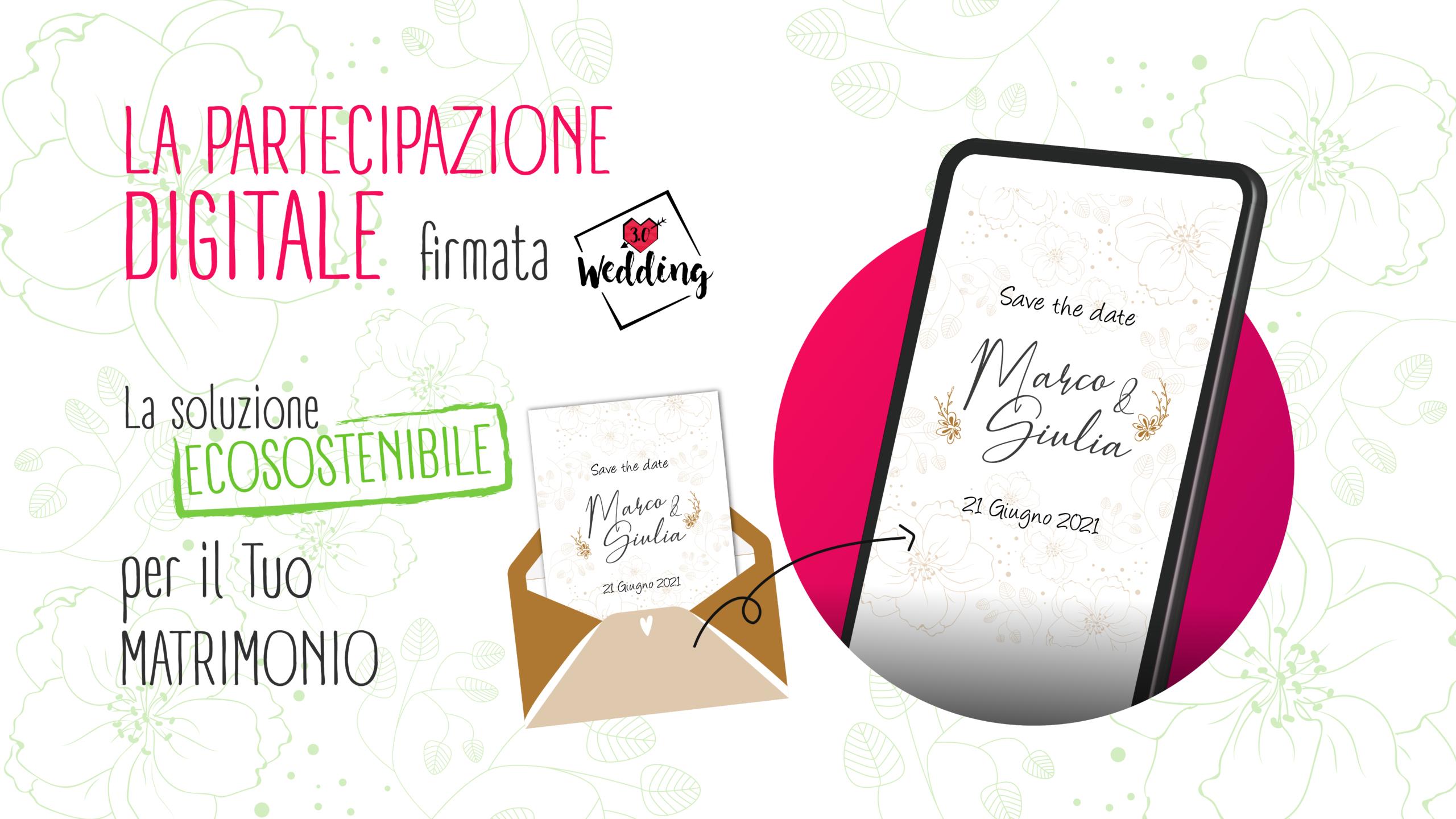 partecipazione digitale wedding tre punto zero idee matrimonio