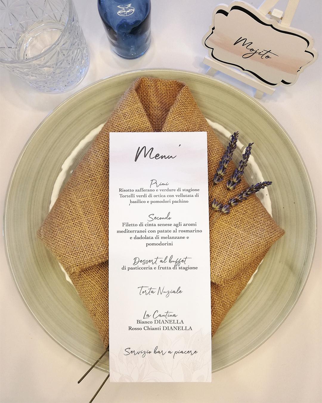 menù matrimonio wedding trepuntozero